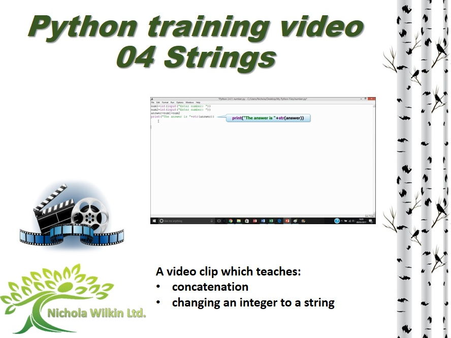 Python training video – 04 Strings