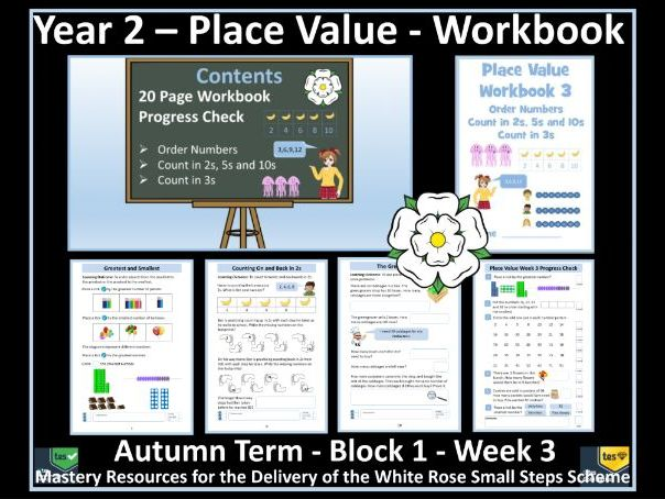Place Value: Year 2 - Autumn Term - Week 3 - Maths' Workbook For Delivery of White Rose Scheme