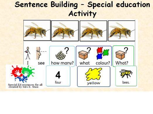 Building sentences - I see summer animals activity