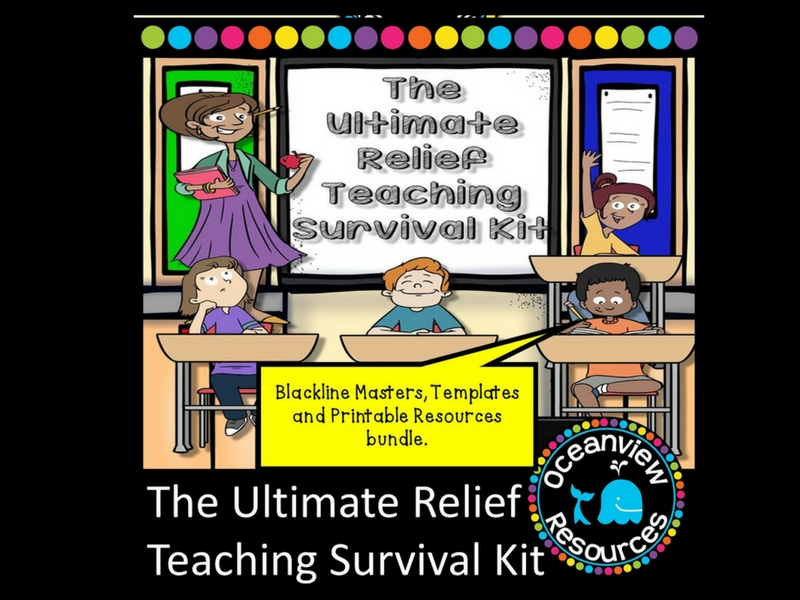 The Ultimate Relief Teaching Kit- Printables Only