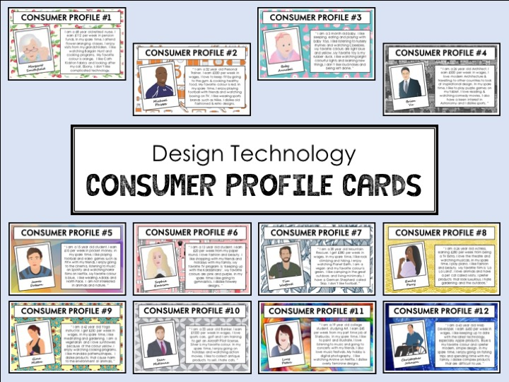 Design Technology - Consumer Profile Cards