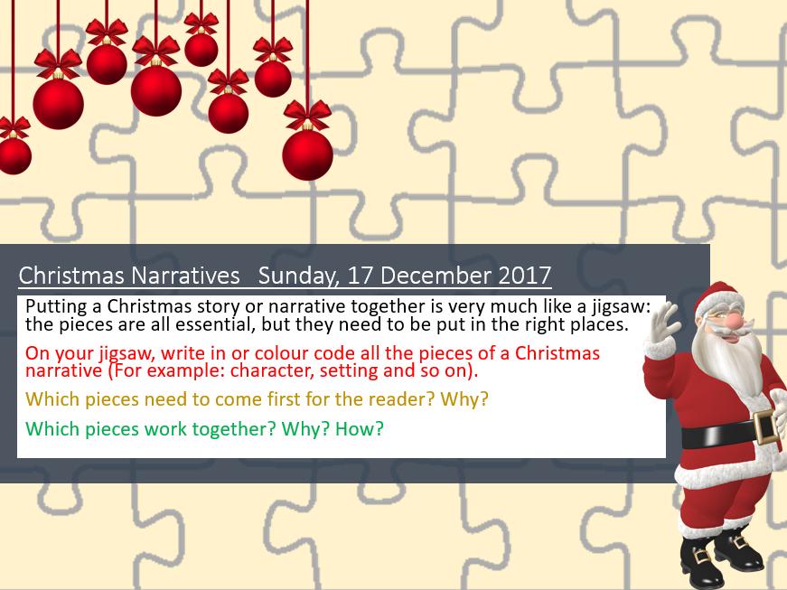 Christmas: Christmas Creative Writing