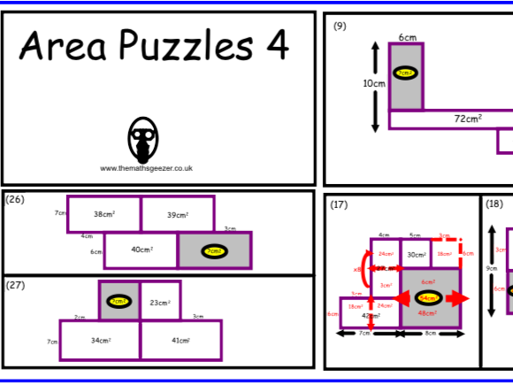 Area Puzzles 4 - Notebook