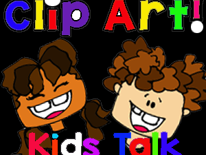 Clip Art Kids Talk