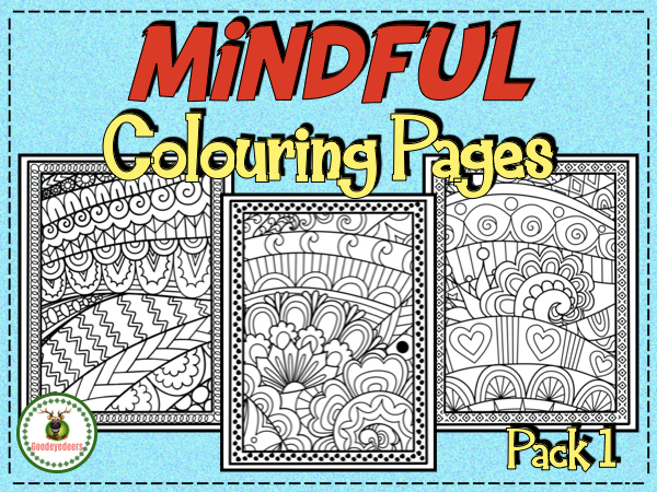 Mindful Colouring Pages - Pack 1