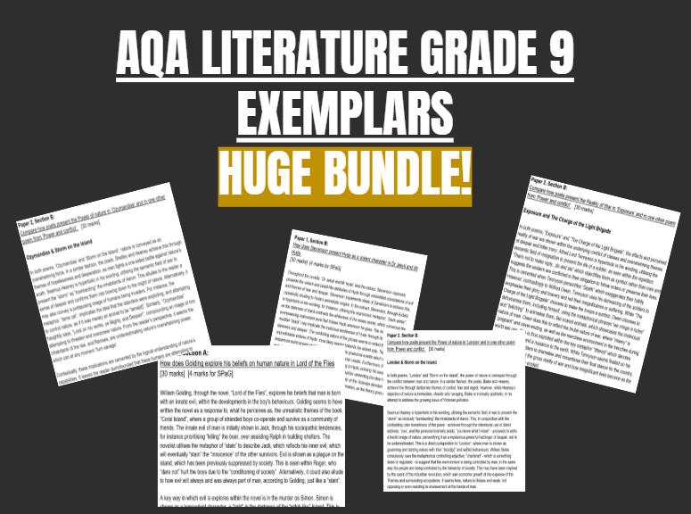 AQA Literature Grade 9 Exemplars Bundle