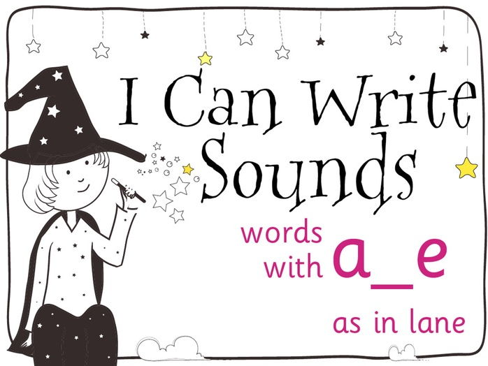 Magic Sounds Phonics Set 40 words with a_e (as in lane)