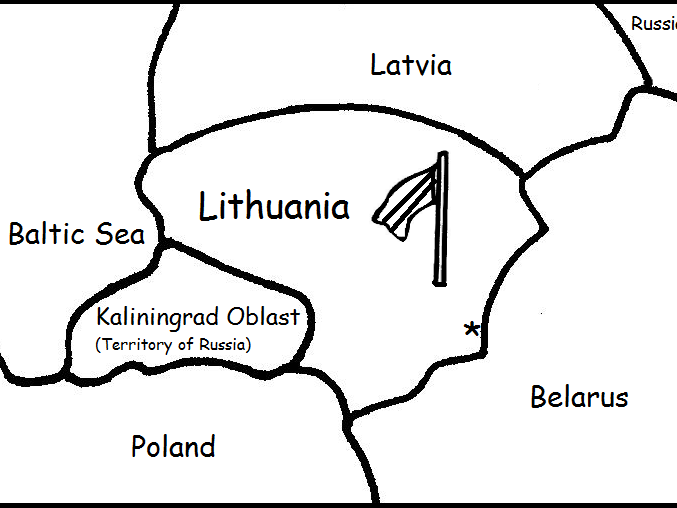 LITHUANIA - Printable worksheets include a map to color