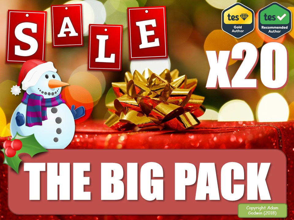 The Massive English Language & Literacy Christmas Collection! [The Big Pack] (Christmas Teaching Resources, Fun, Games, Board Games, P4C, Christmas Quiz, KS3 KS4 KS5, GCSE, Revision, AfL, DIRT, Collection, Christmas Sale, Big Bundle] English Language & Literacy! Whole-School!