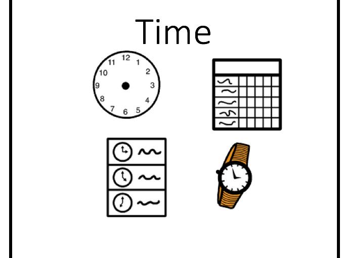 maths: time worksheets and presentation sen