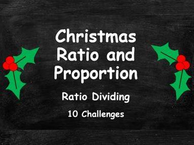 Christmas Ratio and Proportion. Ratio Dividing. FULL SET