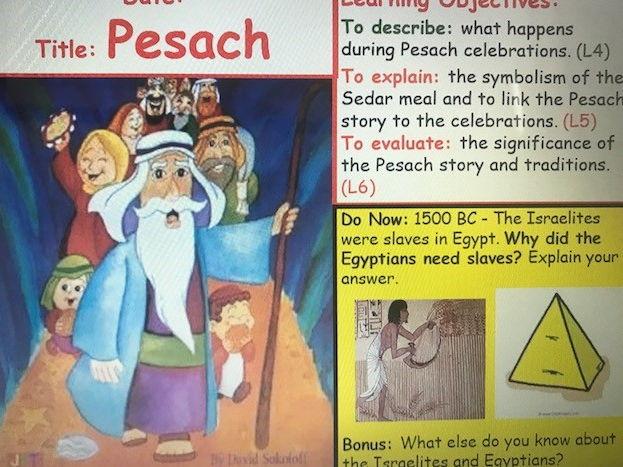 KS3 Judaism - Pesach - Lesson 5