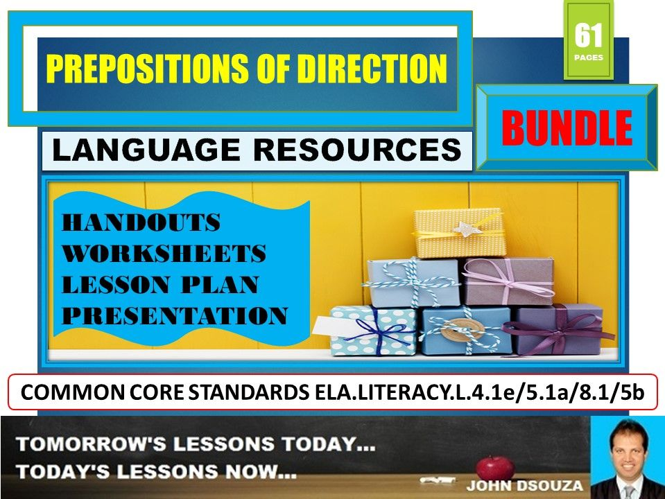 PREPOSITIONS OF DIRECTION BUNDLE