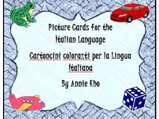 Italian Picture Cards and Worksheets