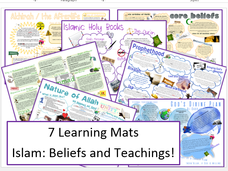 Islam: Beliefs and Teachings: Learning Mat Bundle