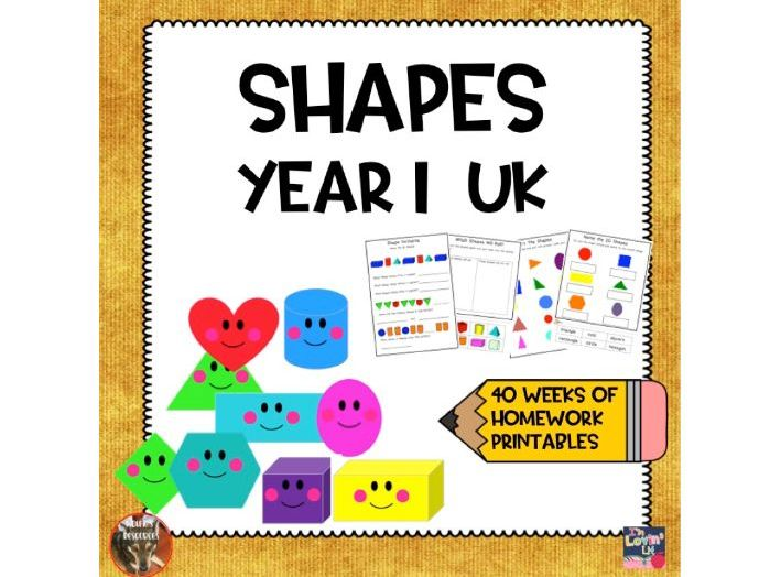 Year 1 Shapes Home Learning
