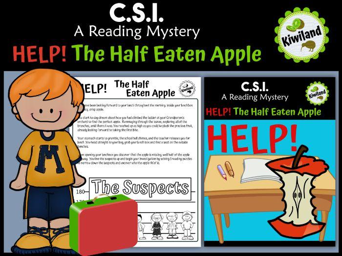 CSI: A Reading Mystery - HELP! The Half Eaten Apple