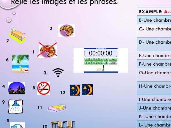 Studio AQA GCSE French- Module 5 Le Grand Large  Unit 1 Les hôtels, mode d'emploi (Found/Higher)