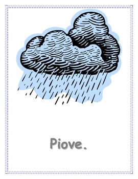 Tempo (Weather in Italian) Posters