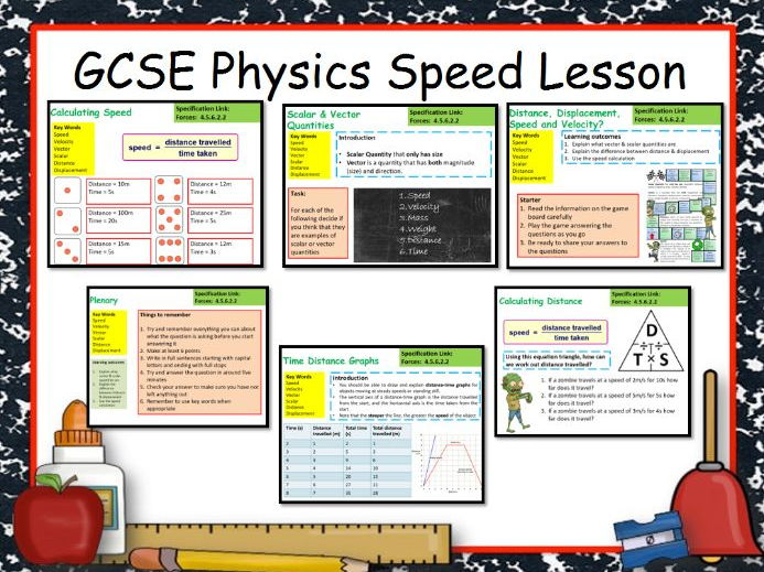 New AQA GCSE Physics Speed Time Relationship Lesson