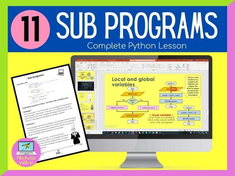Python Subprograms Lesson