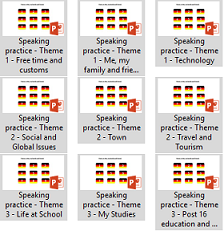 GCSE  German AQA Speaking Game Bundle - Themes 1,2 and 3