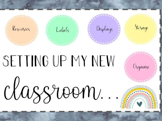Setting up my classroom- Booklet