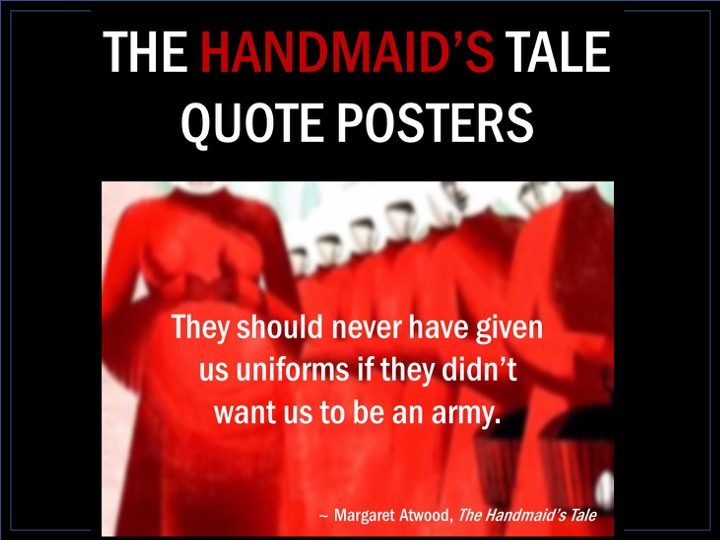 The Handmaid's Tale Quote Posters