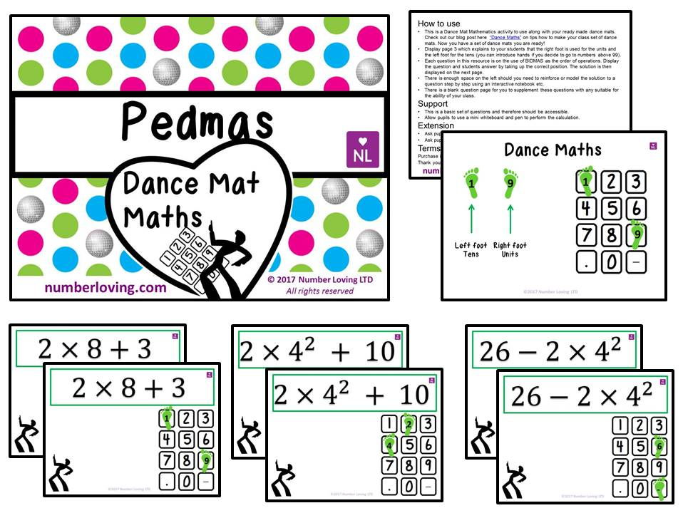 PEDMAS (Dance Mat Math)