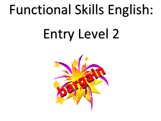 English Functional Skills Entry Level 2: Revision Bundle