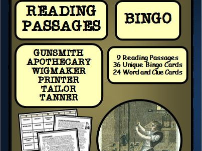 Colonial Craftsmen: Reading Passages and Bingo, Part 1