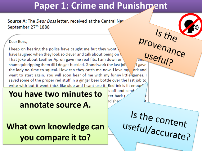 Walking Talking Mock: Whitechapel (Crime and Punishment)  paper 1 Edexcel 9-1 GCSE History