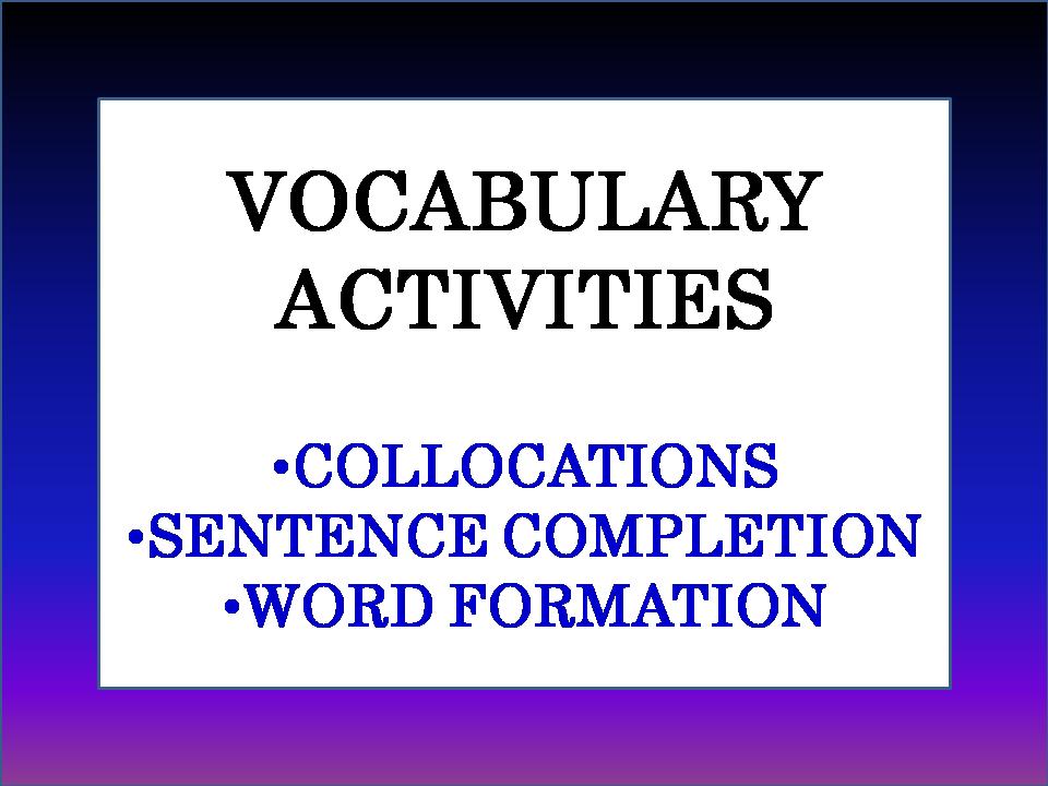Grammar Games and Worksheets: High School English Teaching