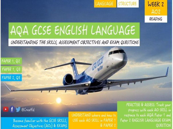 New GCSE English Language Skills UNIT,  AO2 Language and Structure: Paper 1 and Paper 2 Questions