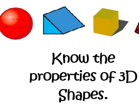 Know the Properties of 3D shapes Lesson Plan