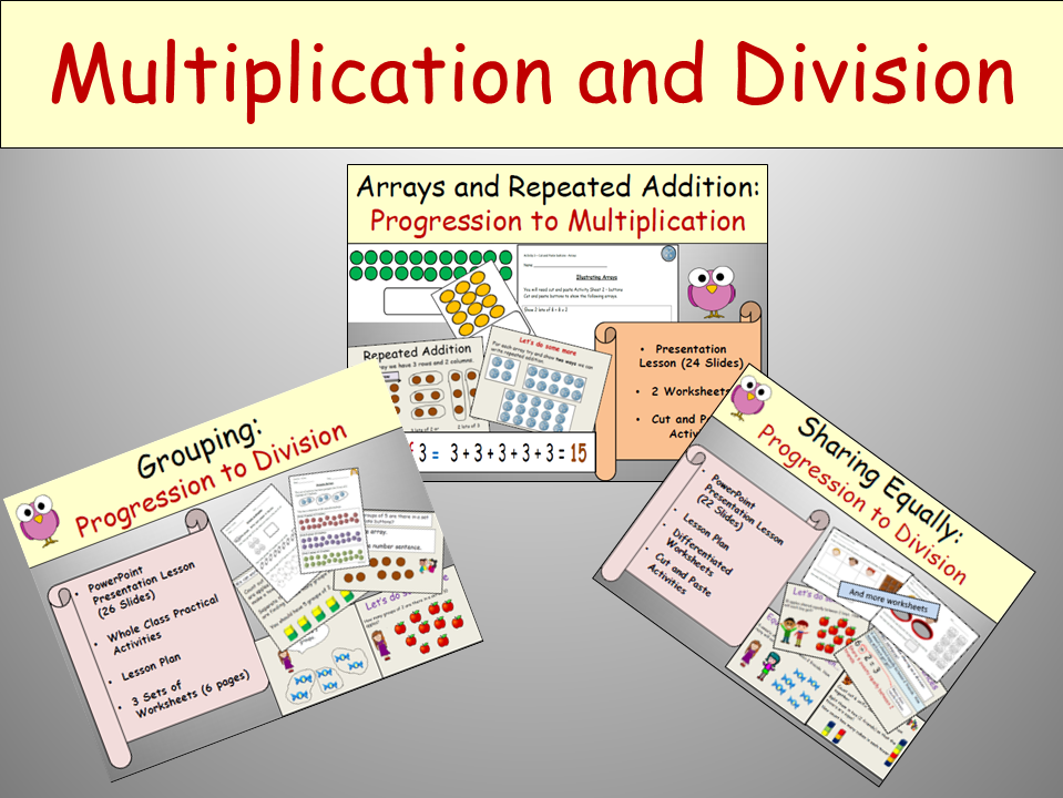 Multiplication: Repeated Addition and Arrays- Presentation ...