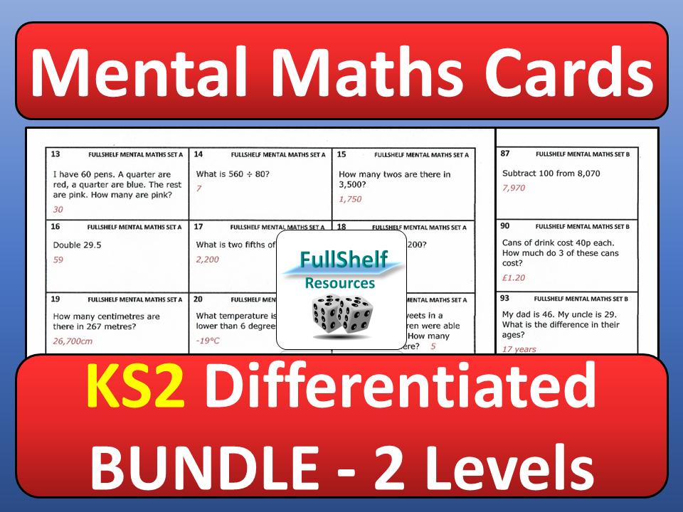 Mental Maths Cards