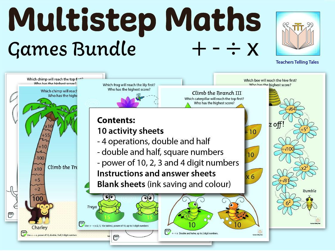 Multistep Maths Games Bundle