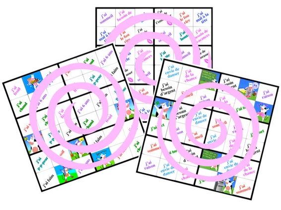 3 MOTDOKU6 games (Les expressions avoir)