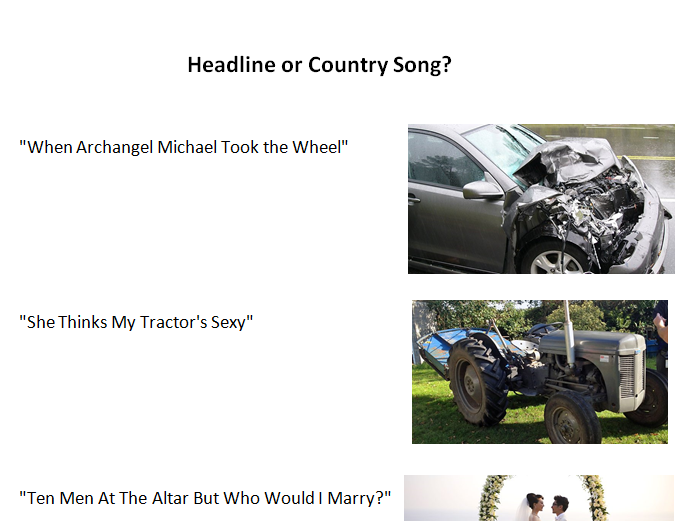 Headline or Country Song?