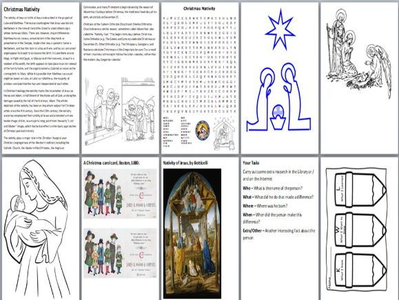 The Christmas Nativity Activity Pack