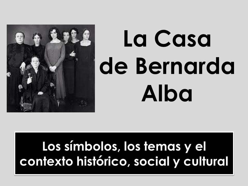 A-level Spanish: La Casa de Bernarda Alba - Temas, símbolos y contexto