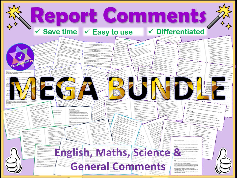 Report Comments Mega Bundle