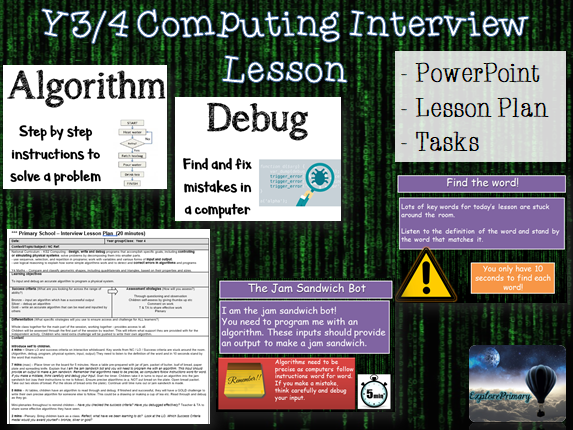 Y3 / Y4 Outstanding Computing Interview Lesson