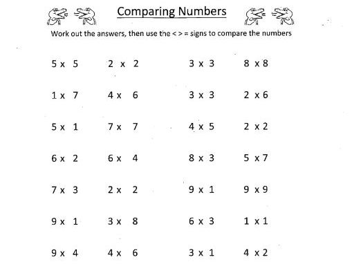 KS1 - Maths - Comparing Numbers