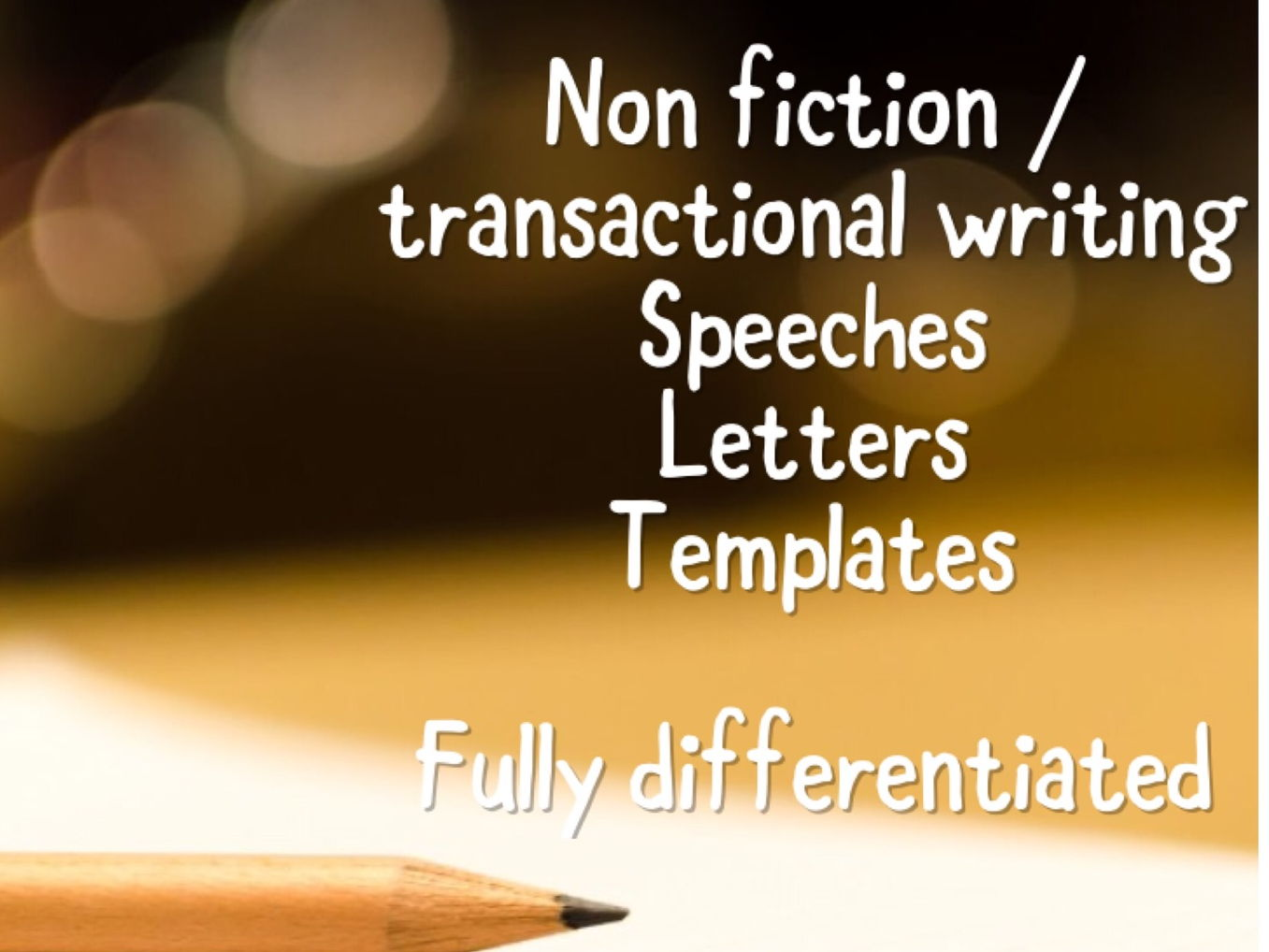 Non fiction transactional writing - differentiated Bundle
