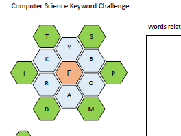 Computer Science - Keyword Challenge Starter Activity - Can be edited for any subject / topic