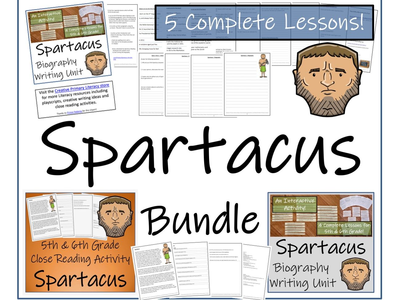 UKS2 History - Bundle of Activities about Spartacus