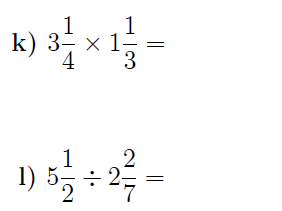 Multiplying and dividing mixed numbers Bundle