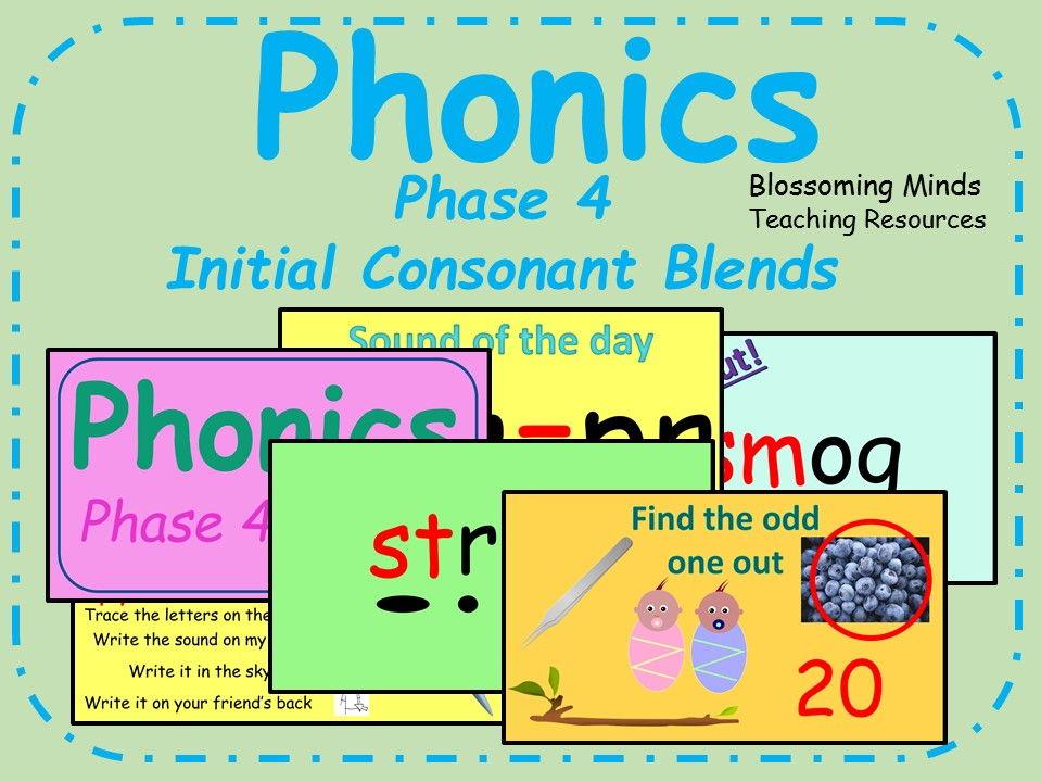 Phonics phase 4 - Initial Consonant blends lesson bundle
